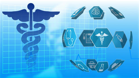 Medical icons and binary codes Animation