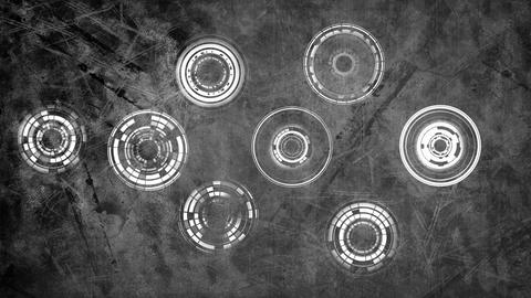 Concentric circles on a grey background Animation