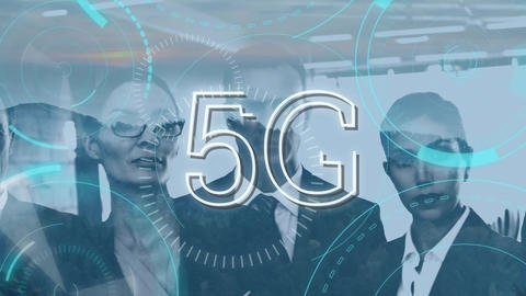 Business people using 5G Animation