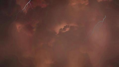 Stormy night sky with lightning Animation