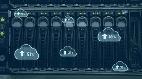 Upload progress clouds 4k Animation