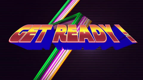 Arcade gaming get ready text Animation
