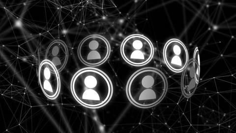 Social media circle Animation