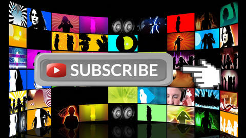 Music subscription on social media Animation