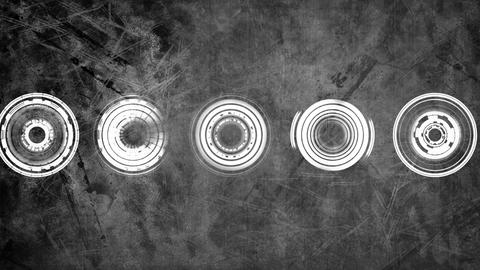 Animation of spinning concentric circles Animation