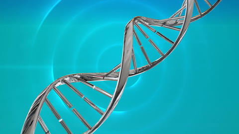DNA helix on a blue background Animation