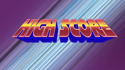 Arcade gaming high score Animation