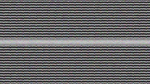 Static noise on a TV screen Animation