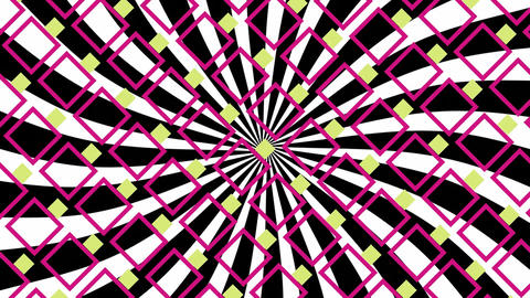 Pink and yellow square and diagonal patterns Animation