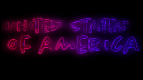 United States of America text 4k Animation