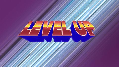 Arcade gaming level up Animation