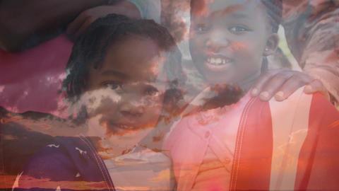 Children smiling 4k Animation