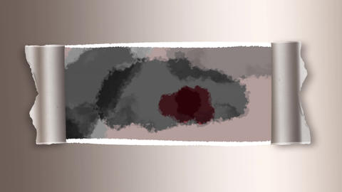 Grey and red color spreading on paper Animation