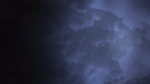 Stormy night sky with flashes of lightning Animation