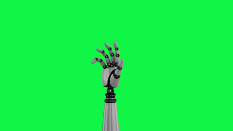 Animation of robotic hand Animation