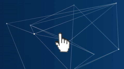 Pointing hand icon Animation