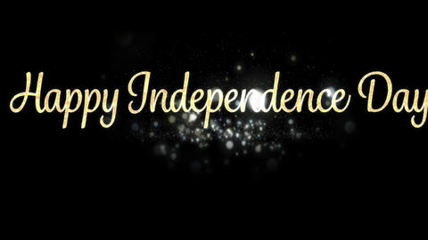 Happy Independence Day greeting 4k Animation