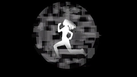 Blurry illustration of a running woman Animation