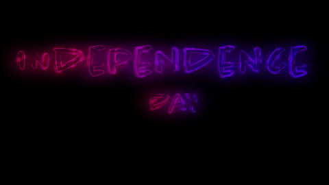 Independence day text 4k Animation