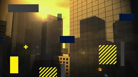Quadrangles and buildings, Stock Animation
