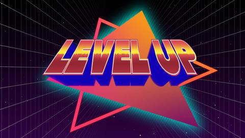 Level Up sign Animation