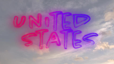 United States text Animation