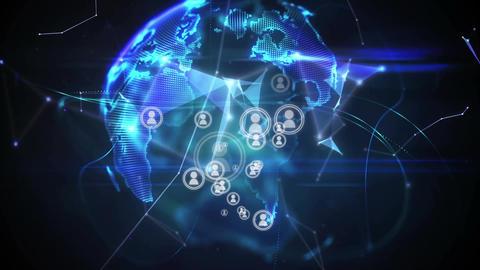 Global social media network Animation