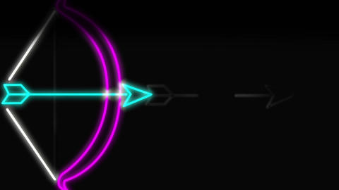Bow and arrow neon sign Animation