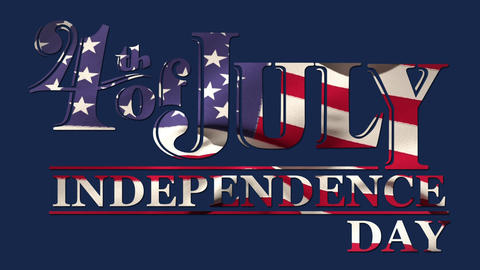 4th of July text Animation