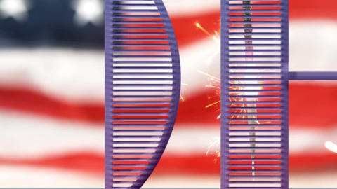 4th of July, Independence day text with American flag and sparkle Animation