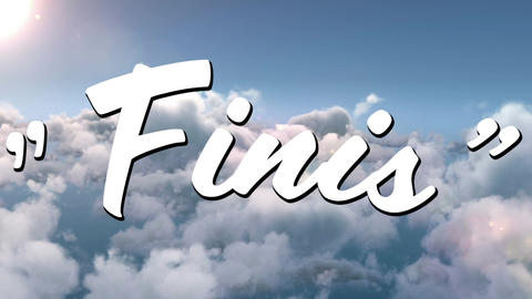 Finis sign in the sky Animation