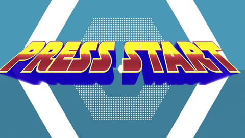 Press start text with bold letters Animation