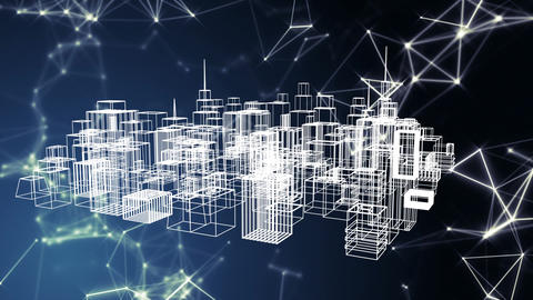 Digital city structure Animation