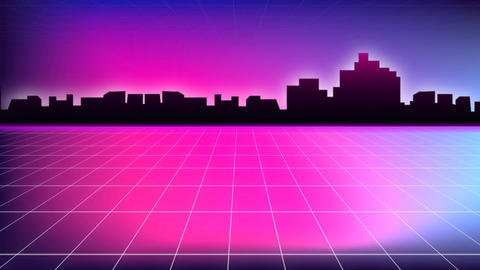 Digital silhouette of a city Animation