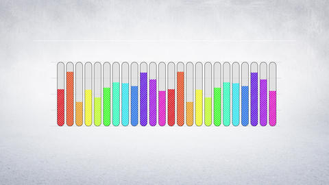 Bars filling up with different colours Animation