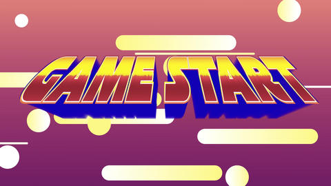 Game start message from an arcade game Animation