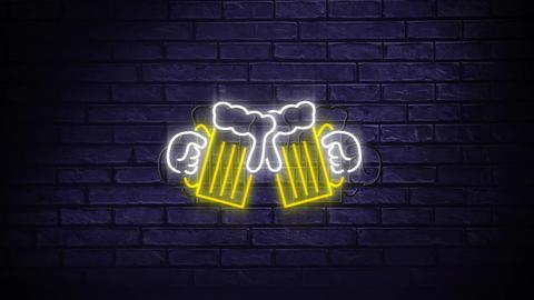 Led light beer signage Animation