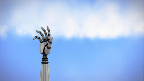 Robot arm in the sky Animation
