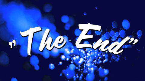 The end text in bold letters Animation
