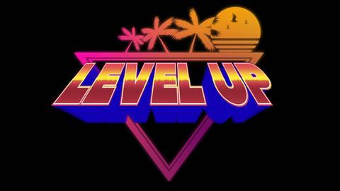 Arcade game level up Animation