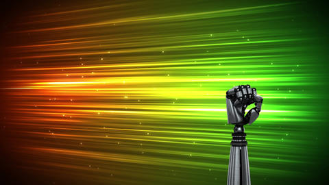 Robot arm on a colourful bright background Animation