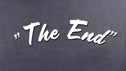 The end message from a movie Animation
