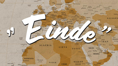 Einde text and a map Animation