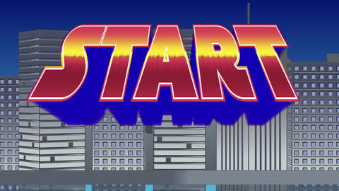 Start sign and buildings Animation