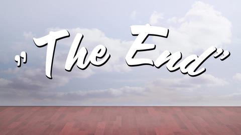 The end message for a movie Animation