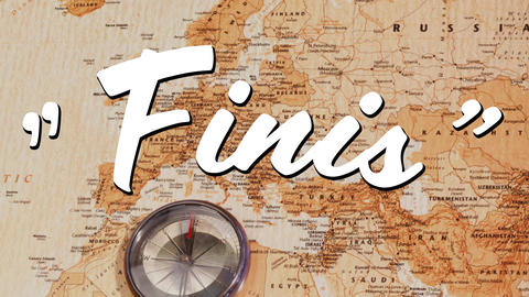 Finis sign and a world map Animation