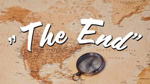 The End sign Animation