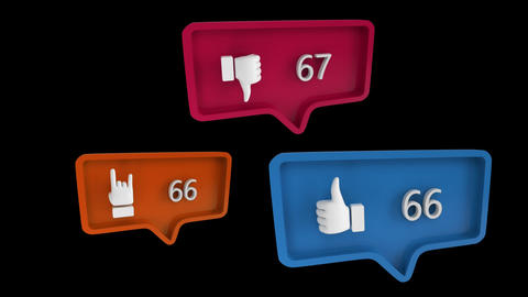 Social media symbols in message bubbles Animation