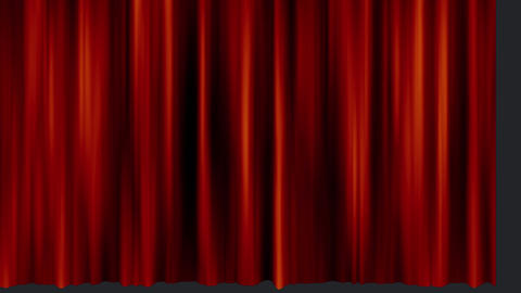 Einde sign and a curtain Animation
