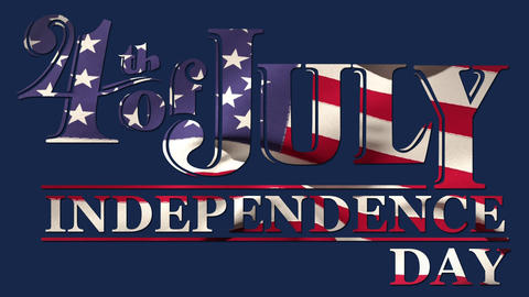 4th of July, Independence day text Animation